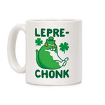 Green Leprechonk Cat St Patrick's Day Printed Mug