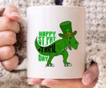 Happy St. Pat T Rex Day Shamrock St. Patrick's Day Printed Mug