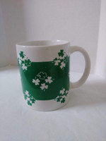 White And Green Shamrock Pattern St Patrick's Day Printed Mug