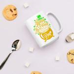 Pot Of Gold Art Shamrock St Patrick's Day Printed Mug