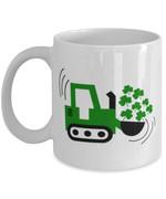 Digging Machine Clover St Patrick's Day Printed Mug