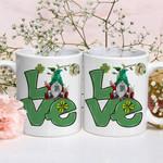 Gnomes Love Sunflower Shamrock St Patrick's Day Printed Mug