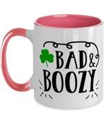 Bad And Boozy Shamrock St Patrick's Day Printed Accent Mug