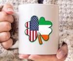 Usa Ireland Flag Shamrock St Patrick's Day Printed Mug