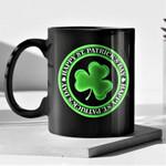 Green Circle Shamrock St Patrick's Day Printed Mug
