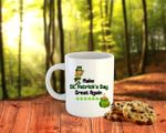 Make St Patrick's Day Great Again Leprechaun Printed Mug