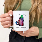 Leprechaun Cat Clover St Patrick's Day Printed Mug