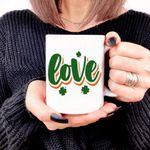 Love Green Clover St Patrick's Day Printed Mug