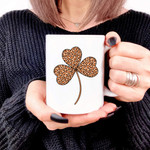 Orange Leopard Shamrock St Patrick's Day Printed Mug