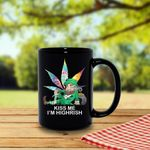 Kiss Me I'm Highrish Shamrock St Patrick's Day Printed Mug