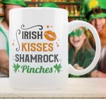 Irish Kisses Shamrock Pinches St Patrick's Day Printed Mug