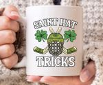 Saint Hat Tricks Hockey Shamrock St. Patrick's Day Printed Mug