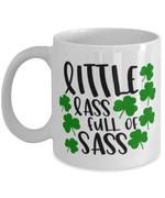 Little Lass Full Of Sass Clover St Patrick's Day Printed Mug