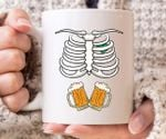 Irish Skeleton Beer St Patrick's Day Printed Mug