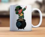 Dabbing Leprechaun And Pot Of Gold Shamrock St. Patrick's Day Printed Mug