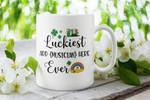 Luckiest Musician Ever Custom Name Gift Clover St Patrick's Day Printed Mug