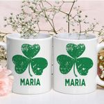 Custom Name Gift For Maria Single Clover St Patrick's Day Printed Mug