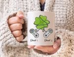 Playing Game Custom Name Gift For Friends Clover St Patrick's Day Printed Mug