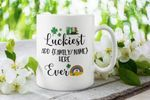 Luckiest Family Ever Custom Name Gift Shamrock St Patrick's Day Printed Mug