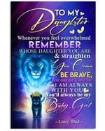 Baby Lion King Dad Gift For Daughter I Am Always With You Vertical Poster