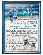 Your Love Is Priceless For Me On The Beach Gift For Wife Fleece Blanket