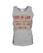 I'm A Proud Son-in-law Of A Awesome Mother-in-law She Thinks This Is Funny Unisex Tank Top