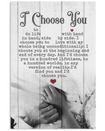 Hand In Hand I'd Choose You Gift For Wife Vertical Poster