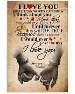 Until Forever This Will Be True Gift For Wife Vertical Poster