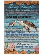 Turtle Coral Reef Just Do Your Best Mom Gift For Daughter Vertical Poster