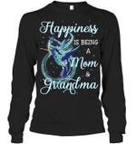 Hummingbird Happiness Is Being Mom And Grandma Unisex Long Sleeve