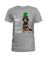 Gordon Setter Irish Today Green St. Patrick's Day Ladies Tee