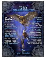 Mandala Eagle You'll Feel My Love Within It Grandma Gift For Granddaughter Fleece Blanket