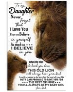 Always Be My Baby Girl Lion Dad Gift For Daughter Vertical Poster