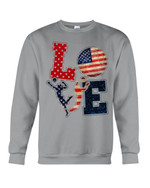 Love Football American Flag Gift For Football Players Sweatshirt