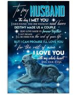 Wolf Couple Winter Love You With All My Heart Gift For Husband Vertical Poster
