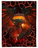 I Love Dragon Fire-breathing Fleece Blanket