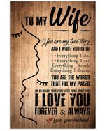 You Are My Love Story Abstract Gift For Wife Vertical Poster
