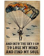 Dictionary Paragliding Into The Sky I Go Find My Soul Vertical Poster