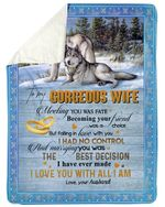 Marrying You Was The Best Decision Wolf Gift For Wife Sherpa Fleece Blanket