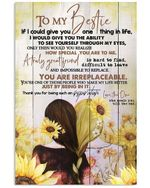 You Are Irreplaceable Sunflower Garden Gift For Bestie Vertical Poster