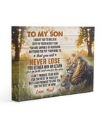 Into The Wild Lion Either Win Or Learn Dad Gift For Son Matte Canvas