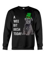 Kerry Blue Terrier Irish Today Green St. Patrick's Day Printed Sweatshirt