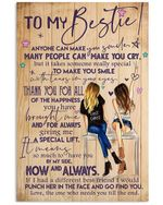 Anyone Can Make You Smile Gift For Bestie Vertical Poster
