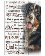Bernese Mountain Dog I Thought Of You Today Gift For Dog Lovers Vertical Poster