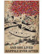 Dictionary And She Lived Happily Ever After With Kayak Vertical Poster