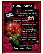 If I Did Anything Right Red Rose Custom Name Gift For Husband Fleece Blanket