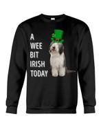 Bearded Collie Irish Today Green St. Patrick's Day Printed Sweatshirt