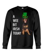 Gordon Setter Irish Today Green St. Patrick's Day Printed Sweatshirt