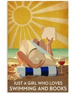 Just A Girl Who Loves Swimming And Books Vertical Poster