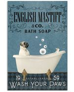 Bath Soap Company English Mastiff Gift For Dog Lovers Vertical Poster